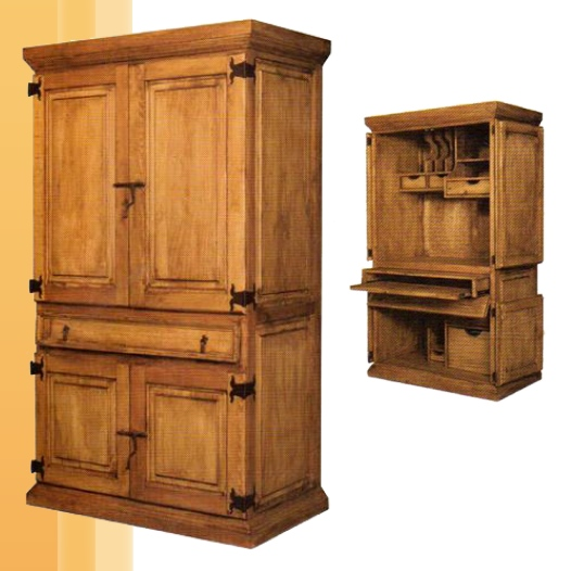 Rustic computer armoire type yvotube