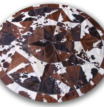 Round Cowhide Spotted Star