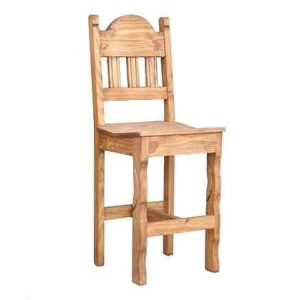 bar-stool-rustic-wood