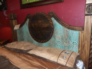 Custom Leather bed 001