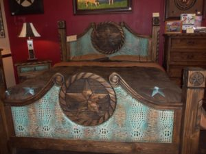 Custom Leather bed 002