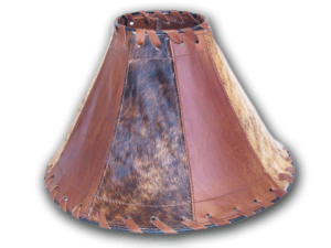 Lampshade-Cowhide_Leather_Brindle