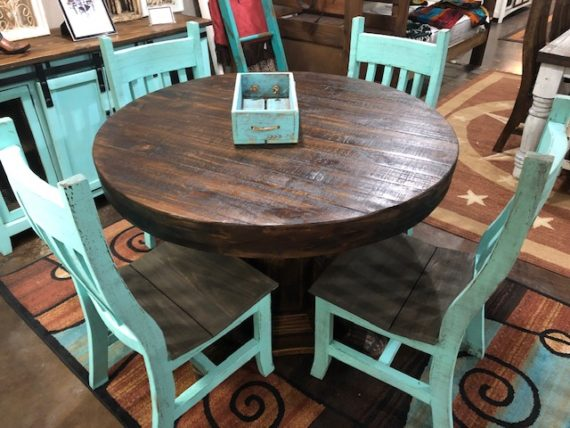 Turquoise Round Table
