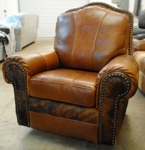 recliner-leaher-cowhide-with-hair