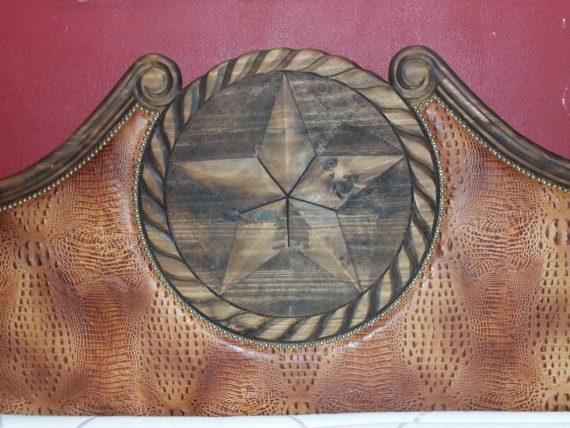 Brown Leather King Headboard 001