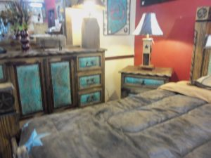 Custom Leather bed 004