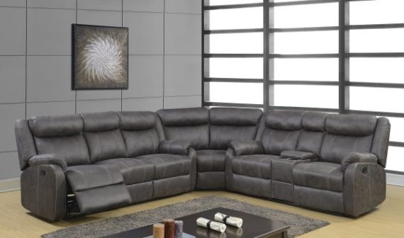 7303 Charcoal sectional