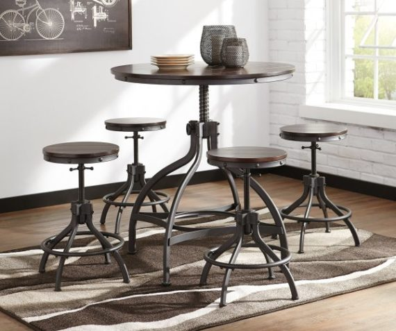 d284 Odium Adjustable Table and Stools