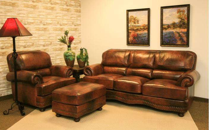 Cowboy Leather Sofa Group
