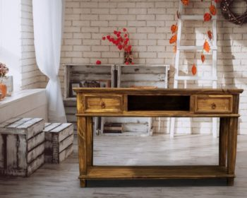 La Cid 153 Antique Table W Drawers