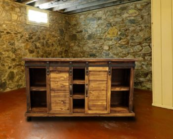 La Com 154 Console W Sliding Barn Doors