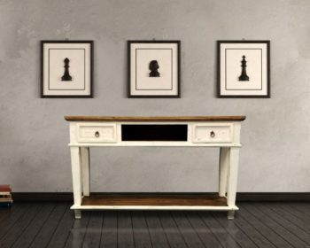 Mo Cid 153 White Table W Drawers