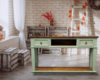 Mt Cid 153 Turquoise Table W Drawers